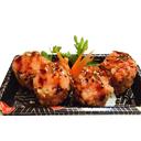 Futomaki Hot Roll Polpa di Granchio e Salmone - 8 Pezzi