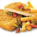 Petto di Pollo impanato e fritto con contorno