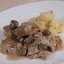 Bocconcini di coniglio (lombo e coscia) alla Ligure con olive Taggiasche 180 GR | ID 300