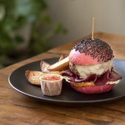 Cheeseburger di manzo bio