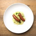 South Tyrolean lye beef sausages with potato salad