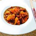 Riso bianco con manzo al curry
