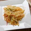 Patate sfilacciate in salsa agropiccante