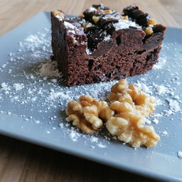 Brownies ganache cioccolato e noci