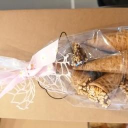 Conini ripieni con cioccolato e granelle 6pz